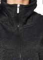 Only Fermuarlı Boğazlı Sweatshirt Siyah